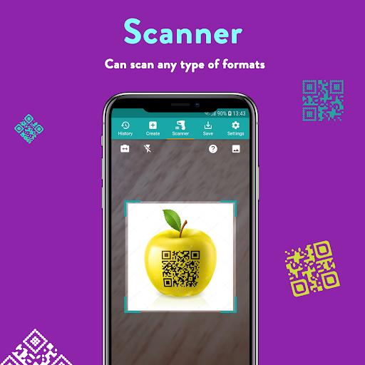 QR Code & Barcode: Scanner, Reader, Creator android2mod screenshots 1