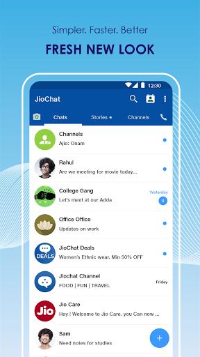JioChat: HD Video Call android2mod screenshots 2