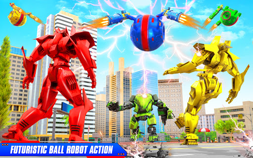 Flying Helicopter Car Ball Transform Robot Games android2mod screenshots 11