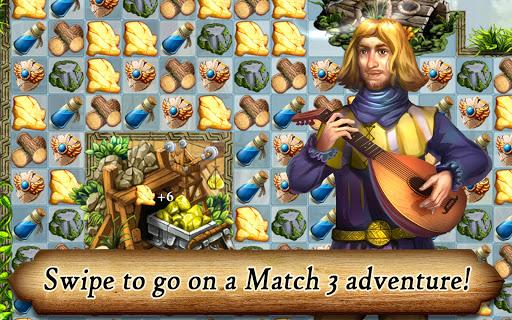 Runefall - Medieval Match 3 Adventure Quest screenshots 2