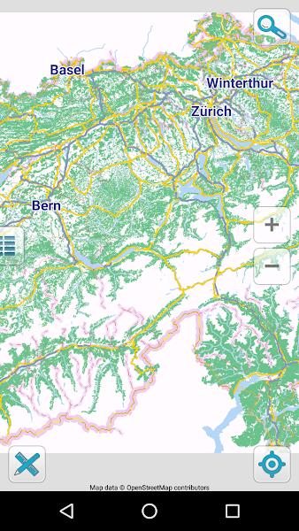 Map of Switzerland offline