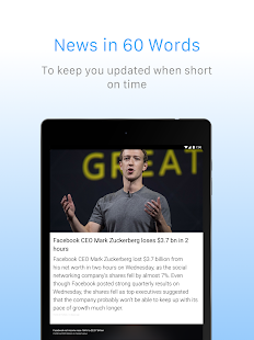 Inshorts - 60 words News summary Screenshot