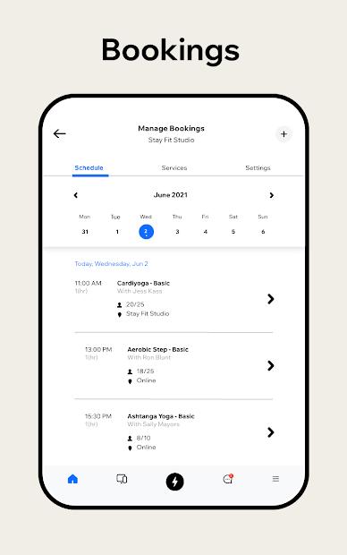 Captura de Pantalla 18 de Wix Owner: crea sitios, tiendas online o blogs para android