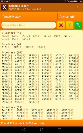 Word Expert (for SCRABBLE) screenshots 12