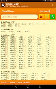 Word Expert (for SCRABBLE) 4.7 screenshots 12