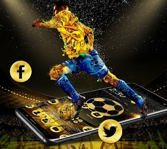 Golden Luxury Football Theme For Pc   Download And Install  (Windows 7, 8, 10 And Mac) 1