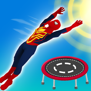 Superhero Flip Jump:Spider Sky