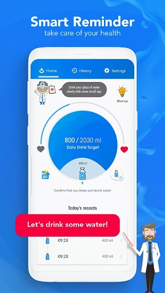 Water Reminder - drink water on time daily