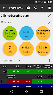 RaceChrono Pro – Mod APK Updated Android 2