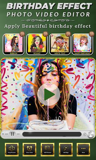 Birthday Photo Effect Video Maker with Song apktram screenshots 3
