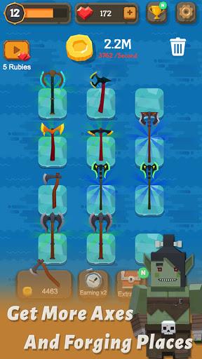 Merge Axe - Idle Blacksmith Master modavailable screenshots 4
