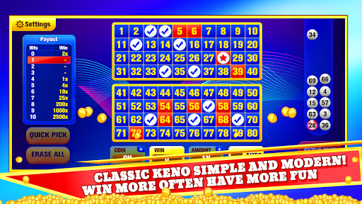 Keno Jackpot - Keno Games with Free Bonus Games! 4.0 screenshots 1