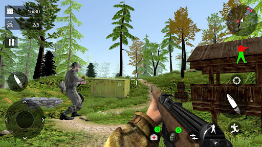World War Firing Squad: Free FPS Fire Shooting 3D android2mod screenshots 8