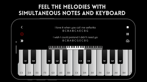 Play Piano: Melodies | Piano Notes | Keyboard  screenshots 1