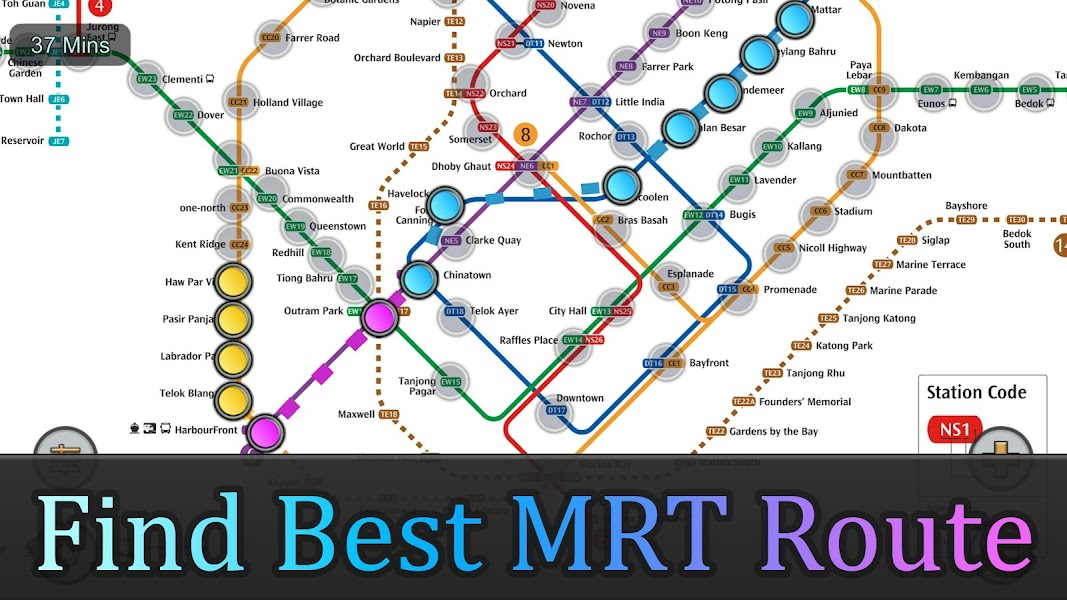 Singapore MRT Map Route(Subway, Metro Transport)