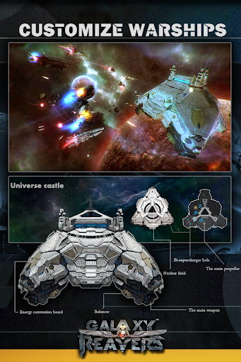 Galaxy Reavers - Starships RTS apkmr screenshots 3
