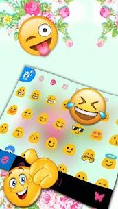 Pink Flower Garden Keyboard Theme 1.0 Android Mod APK 3