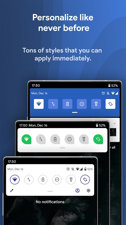 Power Shade: Notification Panel & Quick Settings poster 0