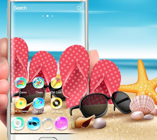 summer holidays colorful bling theme screenshot 2