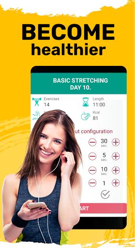 Foto do Stretching exercise. Flexibility training for body