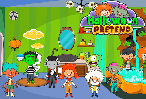 My Pretend Halloween - Trick or Treat Town Friends Apkfinish screenshots 9