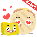Stickers para Whatsapp - Arepa y Mantequilla