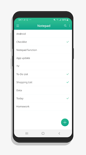 Notepad - Notes, Checklist note  screenshots 1