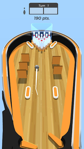 pinball bowling: spares and strikes using flippers screenshot 2