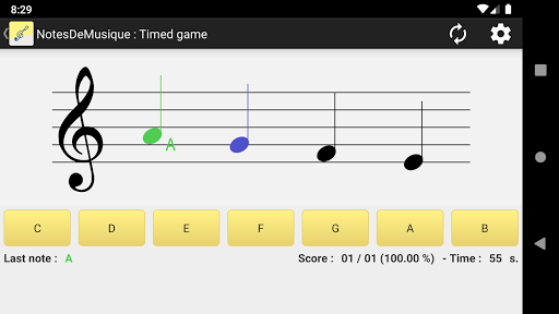 NotesDeMusique (Learning to read musical notation) 6.3 screenshots 1