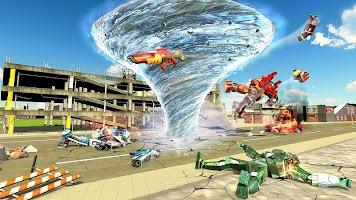 Tornado Robot games-Hurricane Robot Transform Game