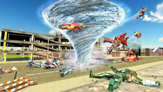 Grand Tornado Robot Car Transform: War Robot Games 1.3.5 Screenshots 9