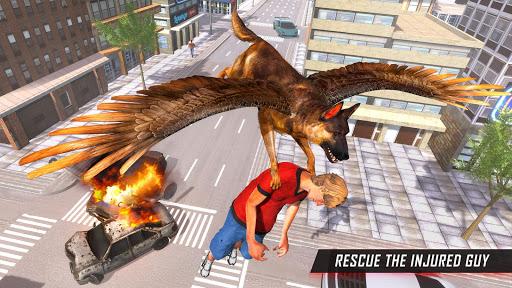 Flying Super Hero Dog City Animal Rescue 1.0.10 screenshots 2