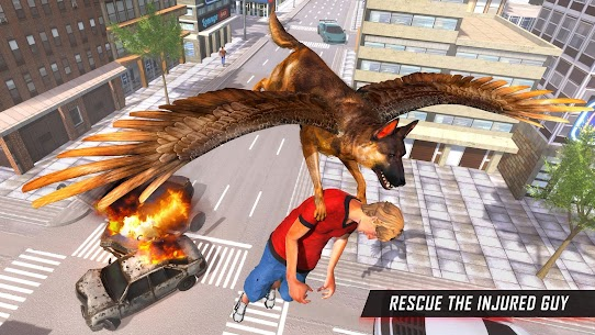 Flying Super Hero Dog City Animal Rescue 2