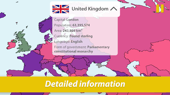 StudyGe – Geography, capitals, flags, countries (MOD, Unlocked) v2.0.0 4