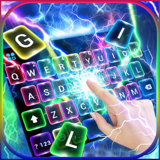 Color Flash Lightning Keyboard Theme