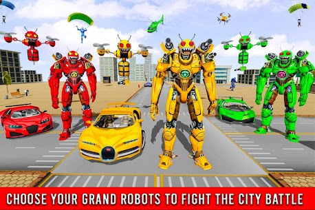 Bee Robot Car Transformation Game Mod Apk (Freeze Enemy) 4