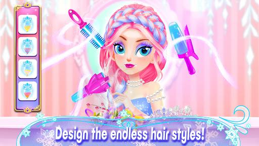 Girl Games: Princess Hair Salon Makeup Dress Up apkslow screenshots 7
