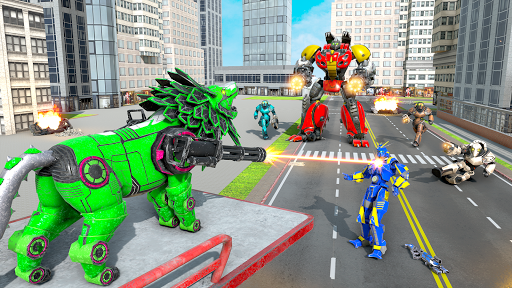 Lion Robot Transform War : Light Bike Robot Games 1.7 screenshots 8