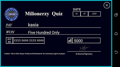 Milionerzy po polsku 2021 : Trivia Brain Quiz 1.0.0 Screenshots 4