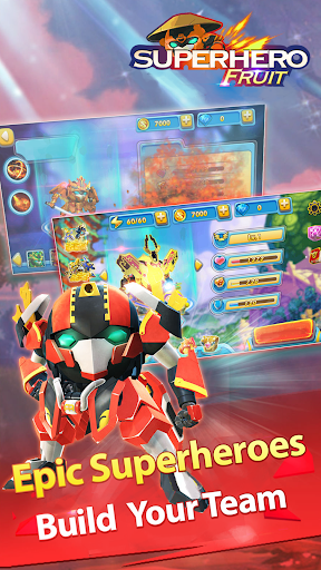 Superhero Fruit: Robot Wars - Future Battles android2mod screenshots 10