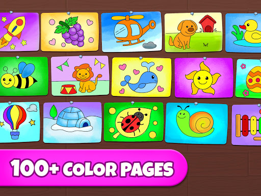 Coloring Games: Coloring Book, Painting, Glow Draw  screenshots 11