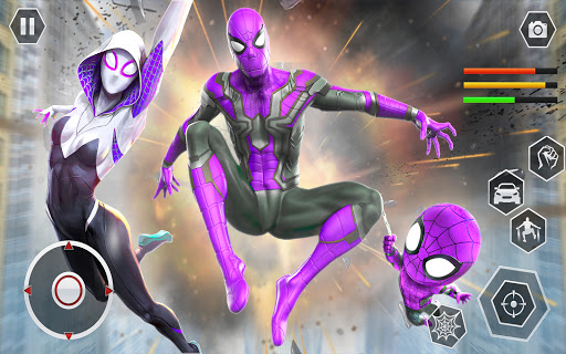 Spider Rope Superhero War Game - Crime City Battle  screenshots 7