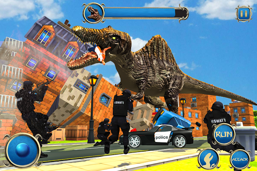 Wild Dino City Rampage: T-Rex Simulator apklade screenshots 2