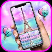 Pink Paris Eiffel Tower love Keyboard