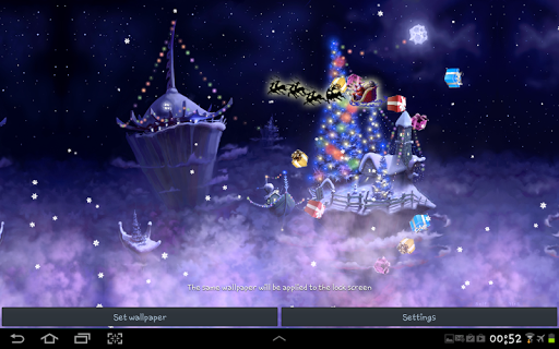 christmas snow fantasy live wallpaper screenshot 3