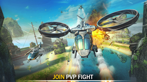 Gunship Force: Free Helicopter Games Attack 3D  screenshots 10