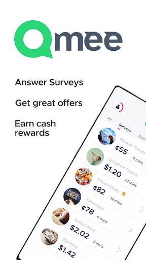 Qmee: paid surveys. Cash, quick money rewards Apkfinish screenshots 1