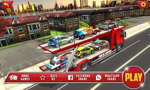 Vehicle Transporter Trailer Truck Game  apktcs 1