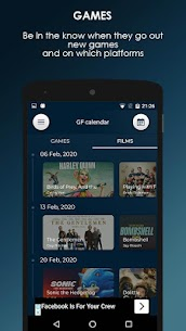 GF Calendar – Games and Films 1.0.2 Mod Android Updated 2