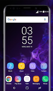 Galaxy S9 purple Theme 1.4.6 Mod + Data for Android 1